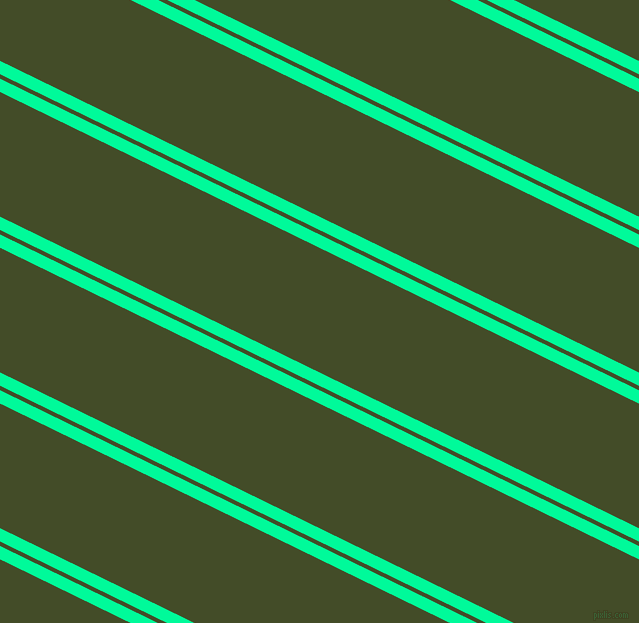 154 degree angles dual stripes line, 12 pixel line width, 4 and 112 pixels line spacing, Medium Spring Green and Bronzetone dual two line striped seamless tileable