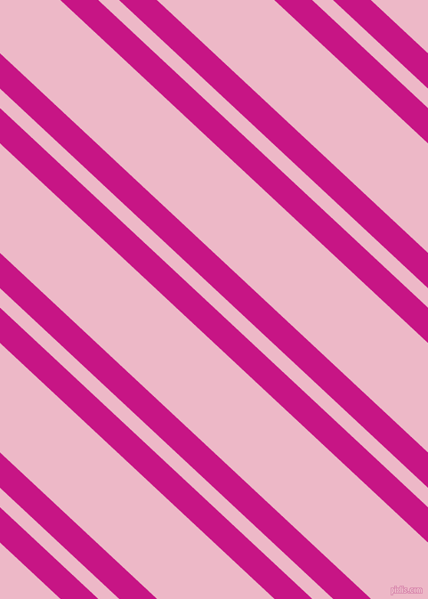 137 degree angles dual stripe line, 29 pixel line width, 16 and 90 pixels line spacing, Medium Violet Red and Chantilly dual two line striped seamless tileable