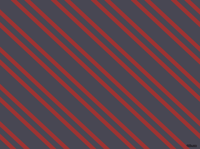 137 degree angles dual stripes lines, 14 pixel lines width, 18 and 48 pixels line spacing, Milano Red and Gun Powder dual two line striped seamless tileable