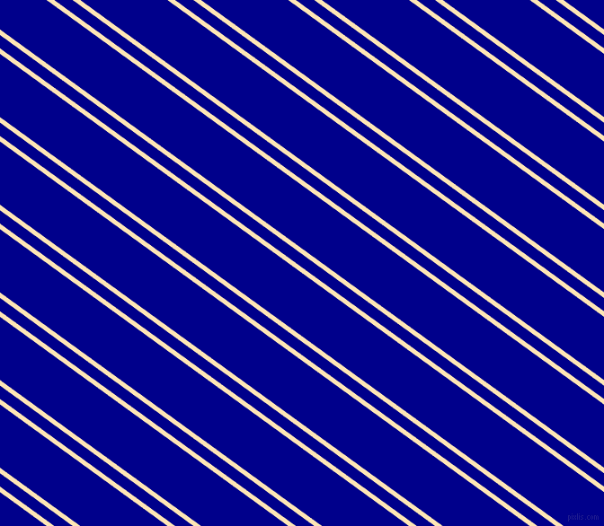 144 degree angles dual striped line, 5 pixel line width, 12 and 57 pixels line spacing, Moccasin and Dark Blue dual two line striped seamless tileable
