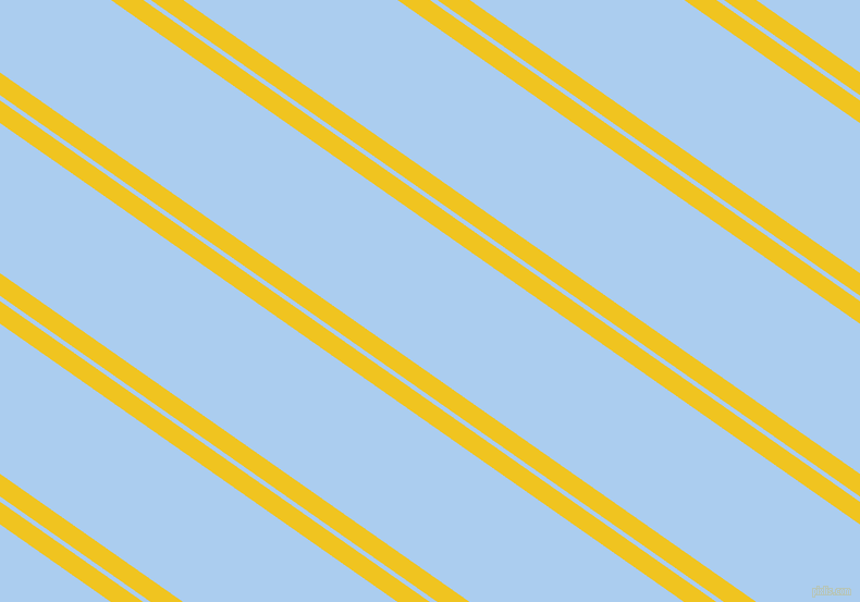 145 degree angles dual striped lines, 17 pixel lines width, 4 and 113 pixels line spacing, Moon Yellow and Pale Cornflower Blue dual two line striped seamless tileable