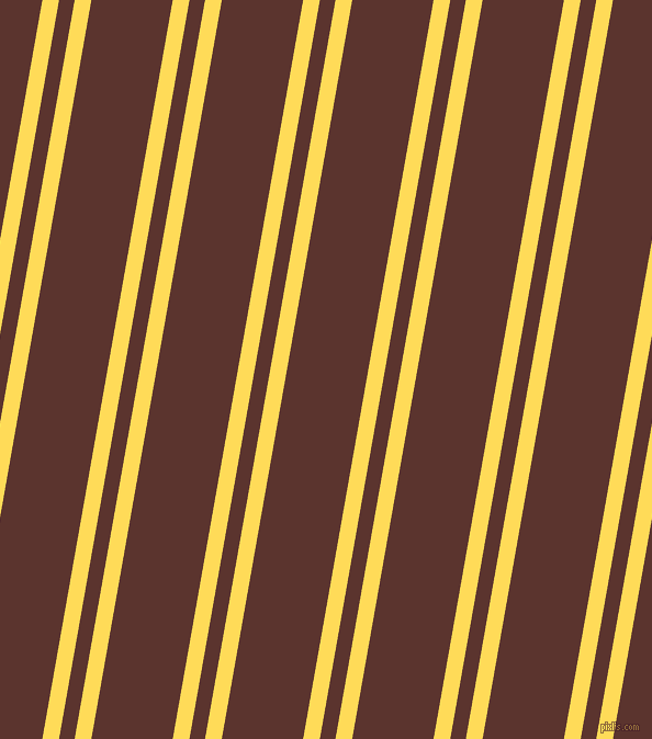80 degree angles dual striped lines, 15 pixel lines width, 14 and 73 pixels line spacing, Mustard and Redwood dual two line striped seamless tileable