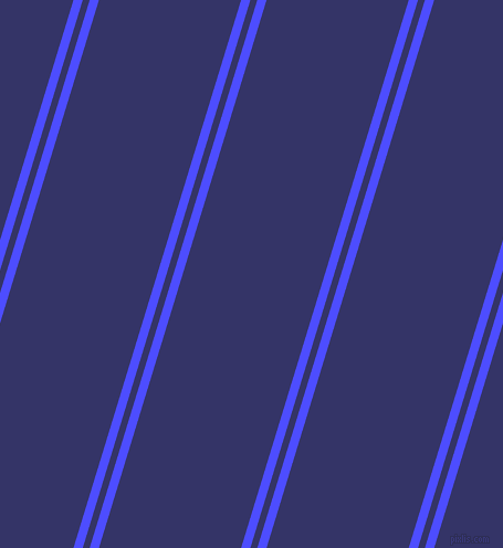 73 degree angle dual stripe lines, 8 pixel lines width, 6 and 123 pixel line spacing, Neon Blue and Deep Koamaru dual two line striped seamless tileable