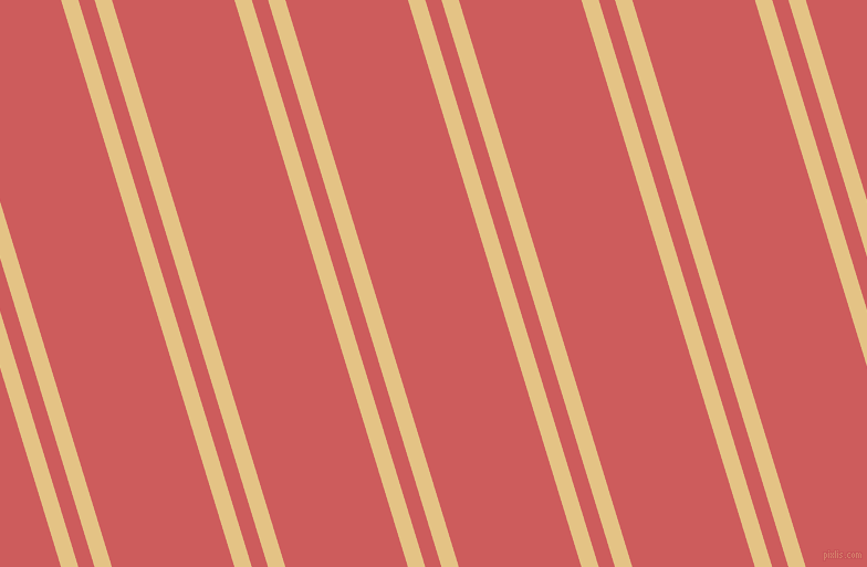 107 degree angles dual striped line, 15 pixel line width, 14 and 106 pixels line spacing, New Orleans and Indian Red dual two line striped seamless tileable