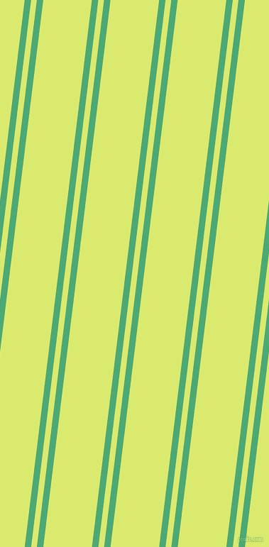 83 degree angles dual striped line, 9 pixel line width, 8 and 68 pixels line spacing, Ocean Green and Mindaro dual two line striped seamless tileable