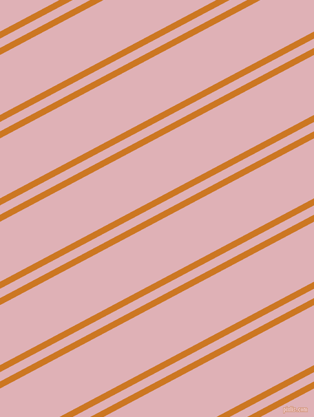 28 degree angles dual stripes lines, 9 pixel lines width, 12 and 77 pixels line spacing, Ochre and Blossom dual two line striped seamless tileable