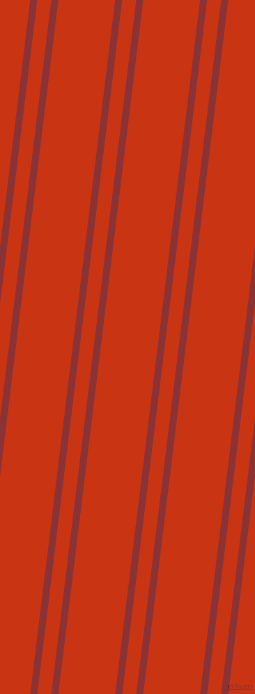 83 degree angles dual stripe lines, 10 pixel lines width, 20 and 81 pixels line spacing, Old Brick and Harley Davidson Orange dual two line striped seamless tileable