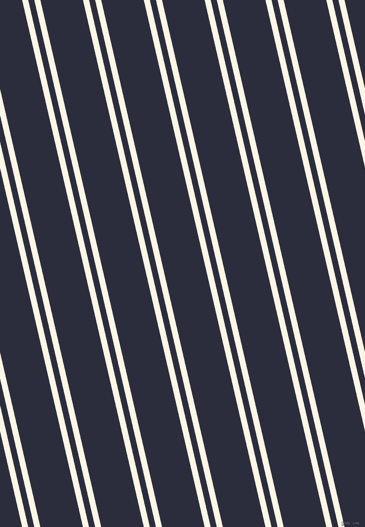 103 degree angles dual stripes lines, 12 pixel lines width, 12 and 84 pixels line spacing, Old Lace and Black Rock dual two line striped seamless tileable