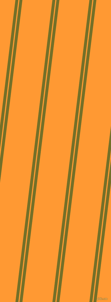 83 degree angles dual striped lines, 10 pixel lines width, 4 and 103 pixels line spacing, Olivetone and Neon Carrot dual two line striped seamless tileable