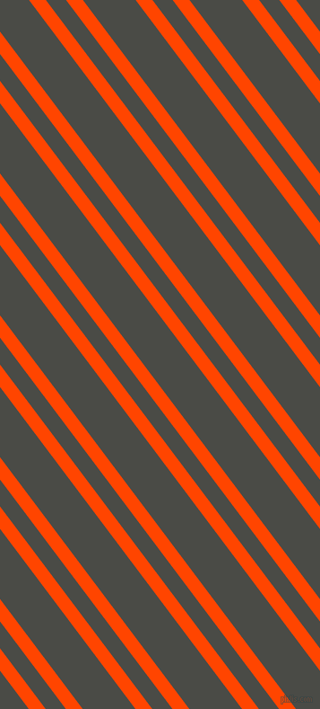 127 degree angles dual stripes lines, 15 pixel lines width, 18 and 47 pixels line spacing, Orange Red and Gravel dual two line striped seamless tileable