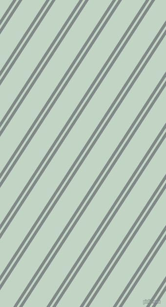 57 degree angle dual striped lines, 6 pixel lines width, 4 and 41 pixel line spacing, Oslo Grey and Sea Mist dual two line striped seamless tileable