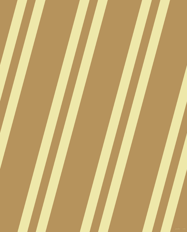 75 degree angle dual stripe lines, 32 pixel lines width, 28 and 113 pixel line spacing, Pale Goldenrod and Barley Corn dual two line striped seamless tileable