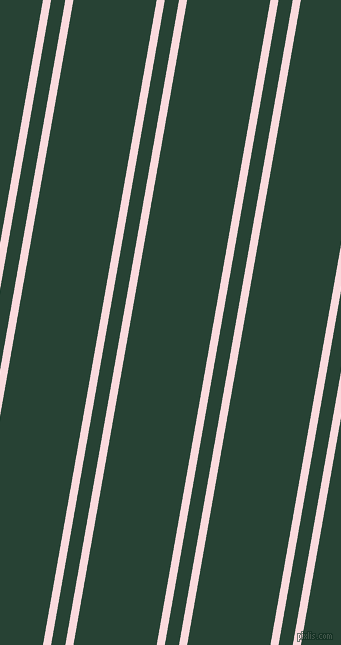 80 degree angles dual stripe line, 8 pixel line width, 14 and 82 pixels line spacing, Pale Pink and English Holly dual two line striped seamless tileable