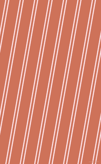 80 degree angle dual stripes line, 4 pixel line width, 6 and 34 pixel line spacing, Pale Pink and Japonica dual two line striped seamless tileable