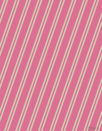 71 degree angles dual striped lines, 5 pixel lines width, 4 and 21 pixels line spacing, Parchment and Pale Violet Red dual two line striped seamless tileable