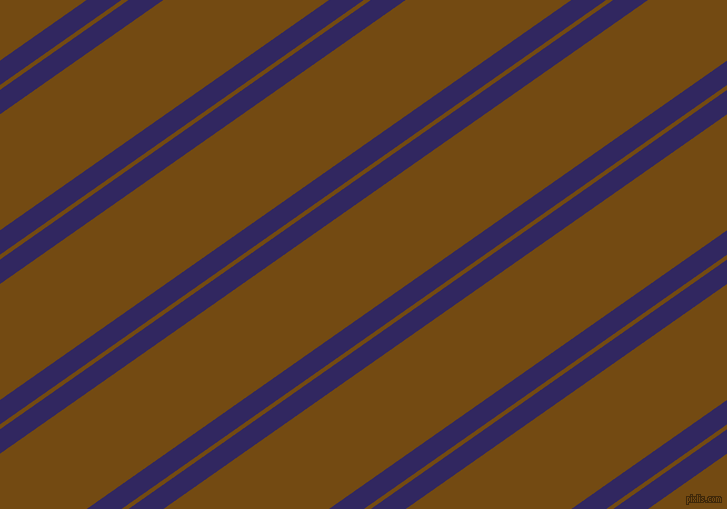 35 degree angle dual stripes lines, 20 pixel lines width, 4 and 95 pixel line spacing, Paris M and Raw Umber dual two line striped seamless tileable
