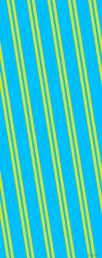 99 degree angles dual striped line, 9 pixel line width, 6 and 41 pixels line spacing, Pear and Deep Sky Blue dual two line striped seamless tileable