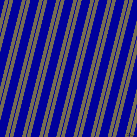 76 degree angles dual striped lines, 15 pixel lines width, 4 and 35 pixels line spacing, Peat and New Midnight Blue dual two line striped seamless tileable