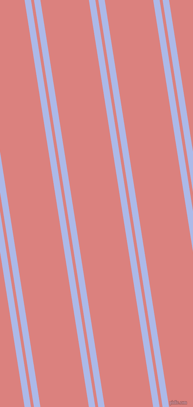 99 degree angle dual striped line, 13 pixel line width, 6 and 98 pixel line spacing, Perano and Sea Pink dual two line striped seamless tileable