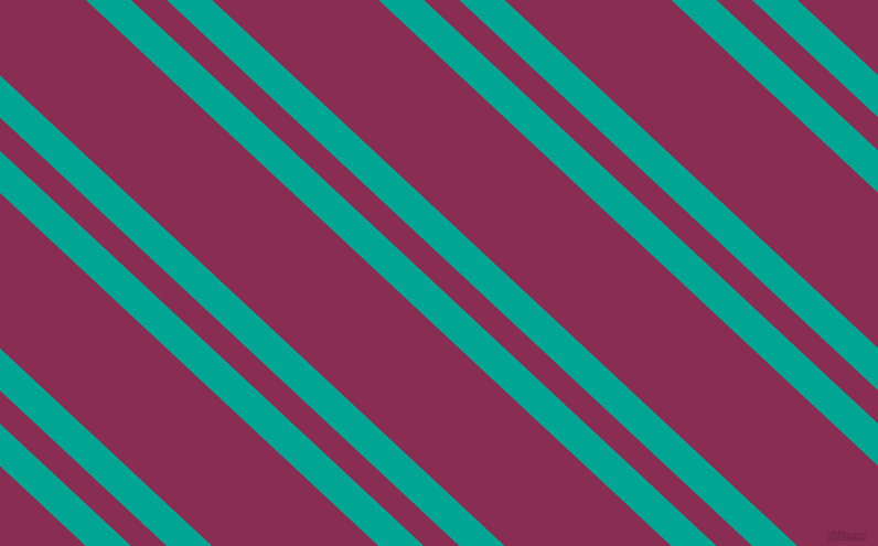137 degree angles dual striped lines, 28 pixel lines width, 22 and 103 pixels line spacing, Persian Green and Rose Bud Cherry dual two line striped seamless tileable