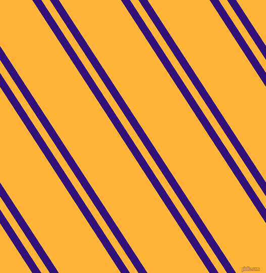 123 degree angle dual stripe line, 15 pixel line width, 14 and 103 pixel line spacing, Persian Indigo and Supernova dual two line striped seamless tileable