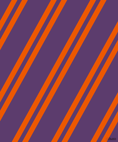 61 degree angles dual stripes line, 18 pixel line width, 14 and 71 pixels line spacing, Persimmon and Honey Flower dual two line striped seamless tileable
