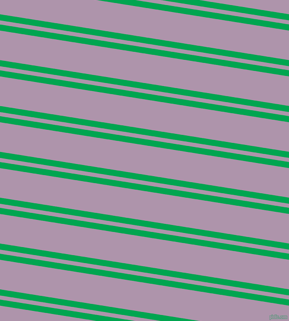 171 degree angle dual stripe line, 12 pixel line width, 8 and 58 pixel line spacing, Pigment Green and London Hue dual two line striped seamless tileable