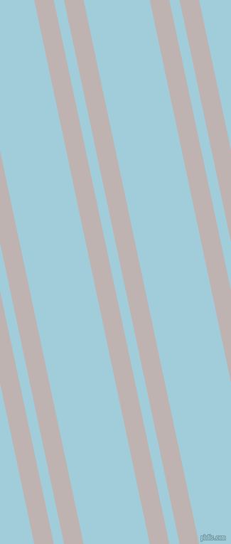 102 degree angles dual stripe line, 27 pixel line width, 14 and 91 pixels line spacing, Pink Swan and Regent St Blue dual two line striped seamless tileable