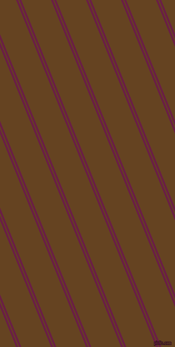 112 degree angles dual stripes line, 4 pixel line width, 2 and 56 pixels line spacing, Pompadour and Dark Brown dual two line striped seamless tileable