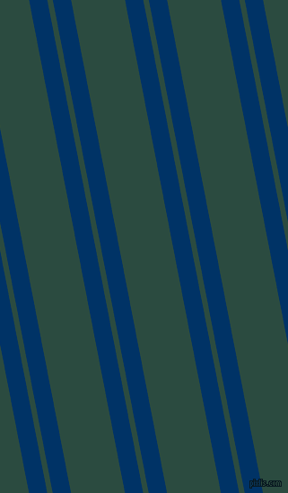 101 degree angle dual striped line, 20 pixel line width, 6 and 59 pixel line spacing, Prussian Blue and Te Papa Green dual two line striped seamless tileable