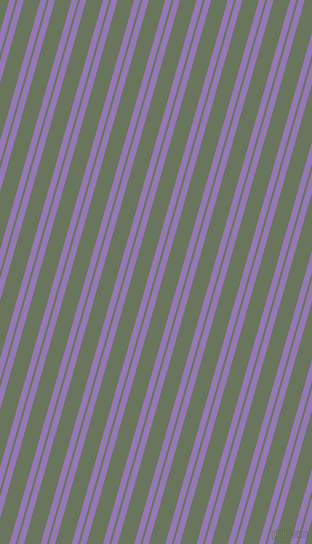 74 degree angle dual stripes line, 6 pixel line width, 2 and 16 pixel line spacing, Purple Mountain
