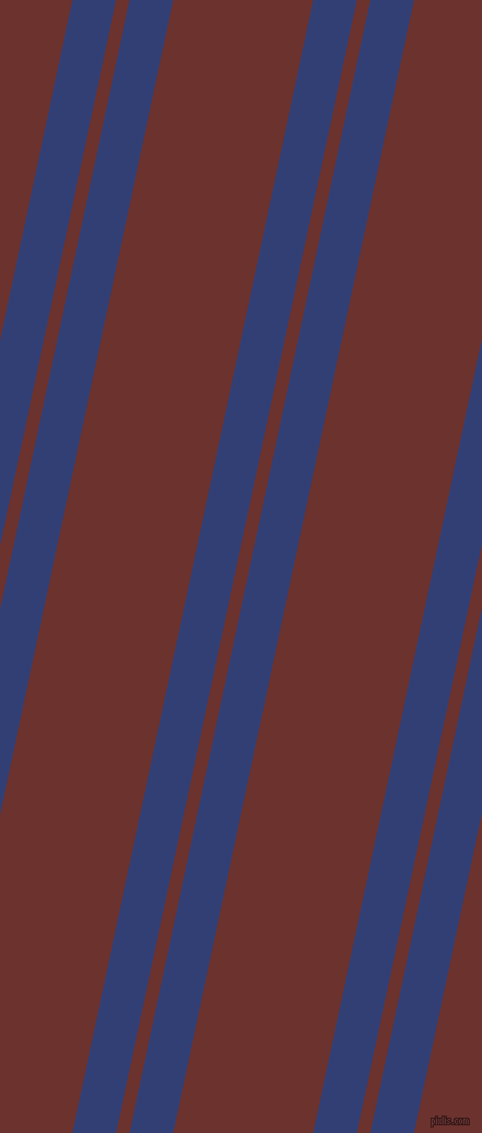 78 degree angle dual stripe lines, 39 pixel lines width, 12 and 125 pixel line spacing, Resolution Blue and Kenyan Copper dual two line striped seamless tileable