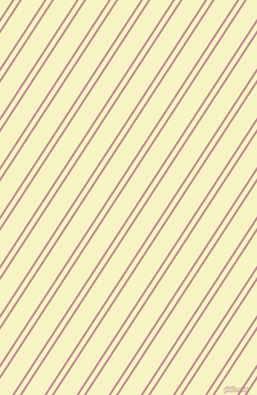 57 degree angles dual stripes lines, 3 pixel lines width, 6 and 27 pixels line spacing, Rosy Brown and Corn Field dual two line striped seamless tileable