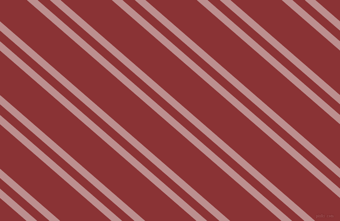 139 degree angles dual stripes lines, 14 pixel lines width, 16 and 67 pixels line spacing, Rosy Brown and Old Brick dual two line striped seamless tileable