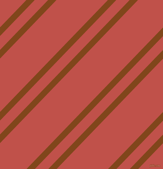 46 degree angle dual stripe line, 20 pixel line width, 32 and 123 pixel line spacing, Russet and Sunset dual two line striped seamless tileable