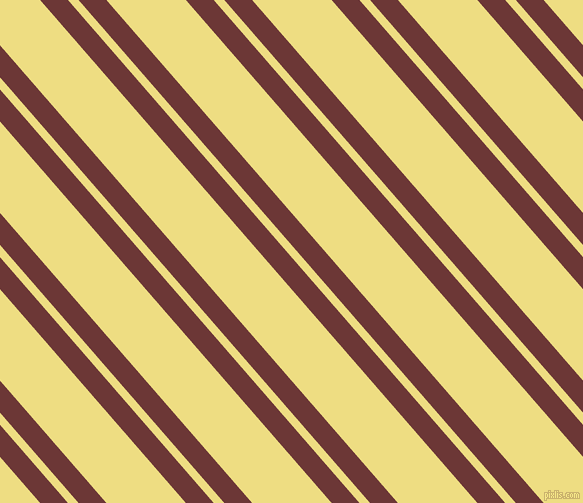 131 degree angles dual stripe lines, 21 pixel lines width, 8 and 60 pixels line spacing, Sanguine Brown and Light Goldenrod dual two line striped seamless tileable