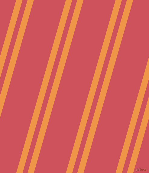74 degree angles dual stripes line, 20 pixel line width, 16 and 102 pixels line spacing, Sea Buckthorn and Mandy dual two line striped seamless tileable