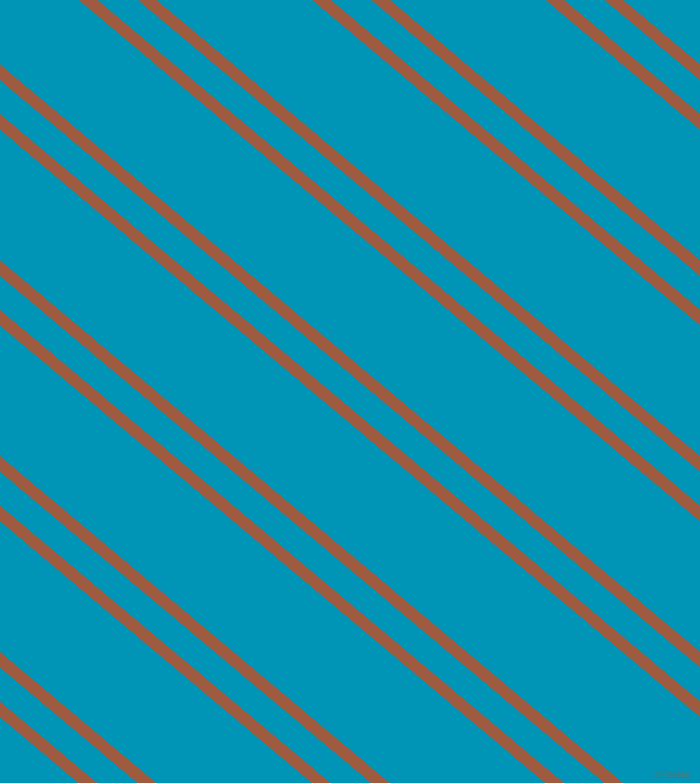 140 degree angles dual striped lines, 12 pixel lines width, 26 and 100 pixels line spacing, Sepia and Bondi Blue dual two line striped seamless tileable