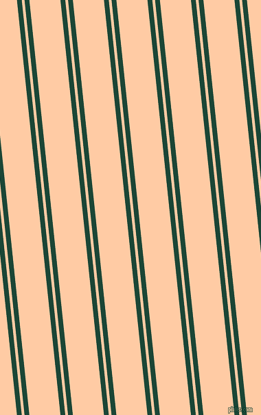 96 degree angle dual striped line, 7 pixel line width, 4 and 45 pixel line spacing, Sherwood Green and Peach dual two line striped seamless tileable