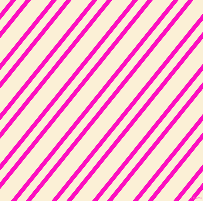 51 degree angles dual striped line, 14 pixel line width, 24 and 52 pixels line spacing, Shocking Pink and Half Dutch White dual two line striped seamless tileable