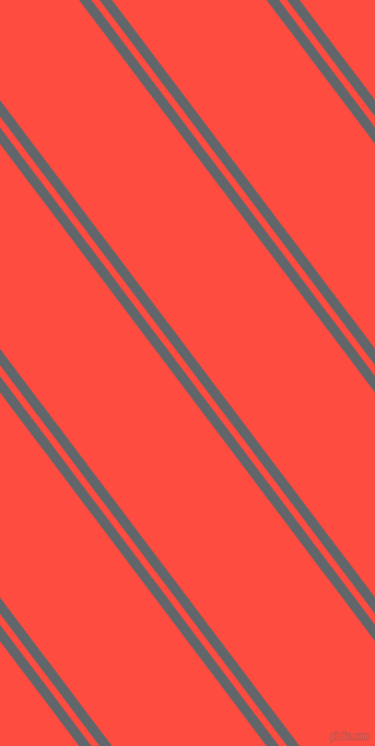 127 degree angle dual stripe lines, 9 pixel lines width, 6 and 113 pixel line spacing, Shuttle Grey and Sunset Orange dual two line striped seamless tileable
