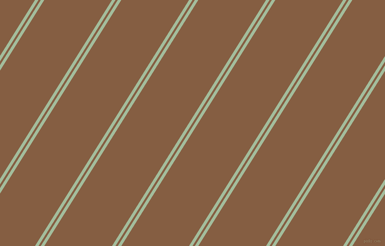 58 degree angles dual stripes lines, 6 pixel lines width, 4 and 117 pixels line spacing, Spring Rain and Dark Wood dual two line striped seamless tileable