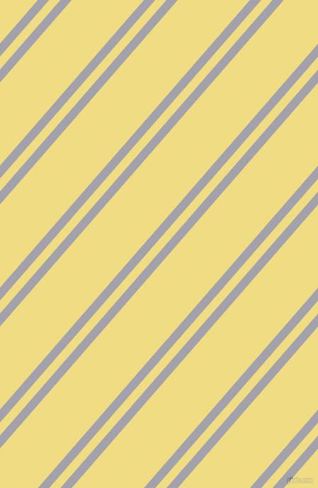 49 degree angles dual striped lines, 12 pixel lines width, 12 and 77 pixels line spacing, Spun Pearl and Buff dual two line striped seamless tileable