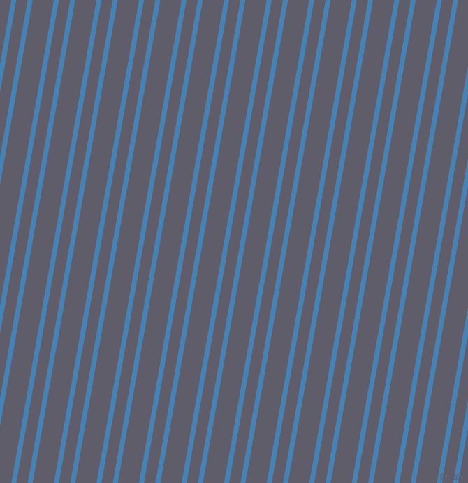 80 degree angle dual stripe lines, 7 pixel lines width, 16 and 30 pixel line spacing, Steel Blue and Smoky dual two line striped seamless tileable