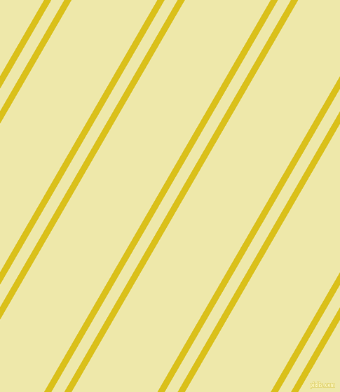 60 degree angles dual striped lines, 9 pixel lines width, 16 and 106 pixels line spacing, Sunflower and Pale Goldenrod dual two line striped seamless tileable