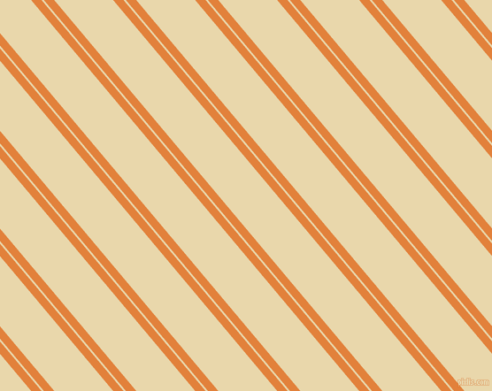 130 degree angle dual stripe lines, 9 pixel lines width, 2 and 51 pixel line spacing, Tree Poppy and Beeswax dual two line striped seamless tileable