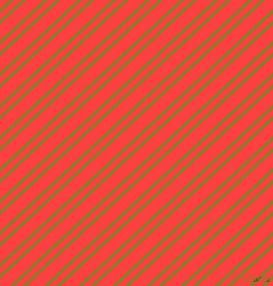 43 degree angle dual stripes line, 4 pixel line width, 8 and 17 pixel line spacing, Trendy Green and Coral Red dual two line striped seamless tileable