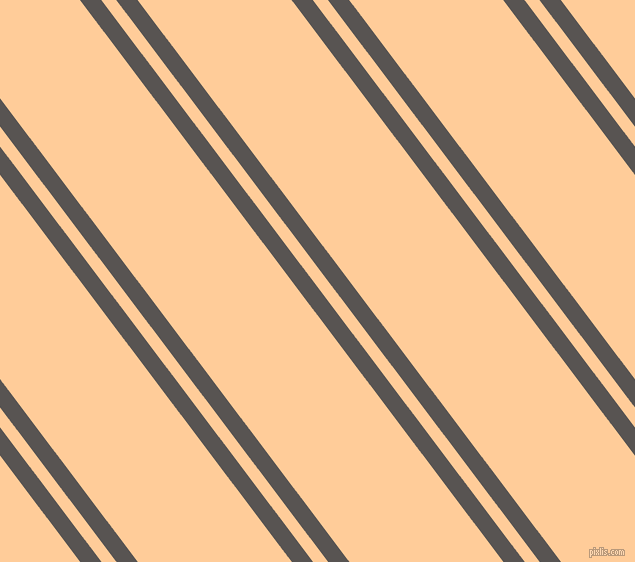 127 degree angles dual stripes lines, 17 pixel lines width, 12 and 123 pixels line spacing, Tundora and Peach-Orange dual two line striped seamless tileable