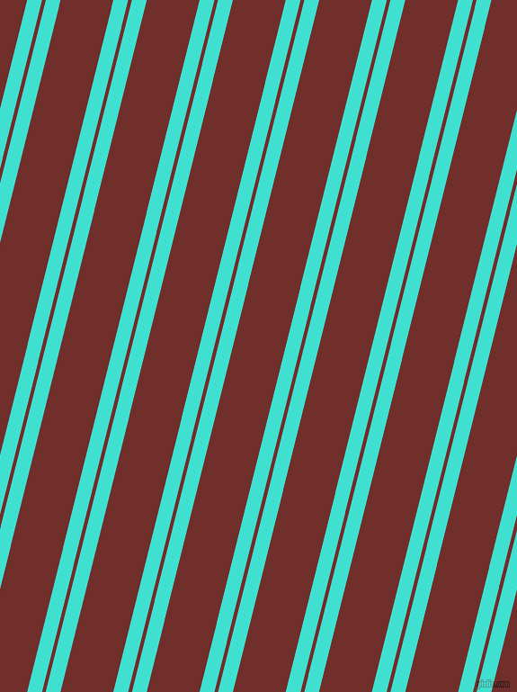 76 degree angle dual stripe lines, 16 pixel lines width, 4 and 57 pixel line spacing, Turquoise and Auburn dual two line striped seamless tileable