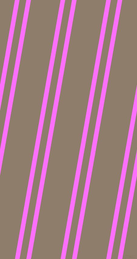 80 degree angles dual stripe lines, 15 pixel lines width, 22 and 96 pixels line spacing, Ultra Pink and Squirrel dual two line striped seamless tileable